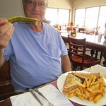 Tom loved the Rueben, fries and large crispy pickle