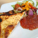 Welsh Rarebit ((£4.95) on white or wholemeal bread with a plum chutney.