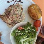 Lamb ribs and poulet roti