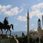 Skanderbeg monument and mosque