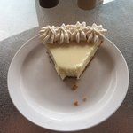 Super friendly staff and Key Lime pie that hit the spot for the long drive back to the mainland