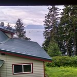 View from the cabin of the Port Frederick Lodge in Hoonah, AK