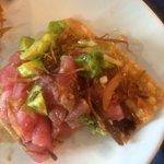 Mis favoritas: las tostadas de atún, quítales un poco de cebolla