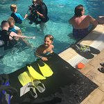 Scuba diving in the pool