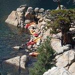 Landing on Fannette Island, Emerald Bay, Lake Tahoe