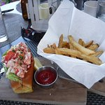 Lobster roll lunch in The Veranda