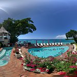 Pano of the hotel grounds