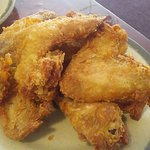 fried chicken wings, nice crunchy batter