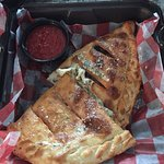 The Calzone and Fried Meatballs