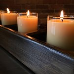 Stunning display with votive candles