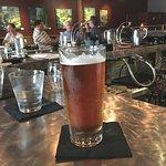 Enjoying a frosty pint at the Toro Lounge bar