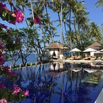 Welcome foot bath w/local Balinese petals, exceptional spa experiences, poolside oasis, sunset c