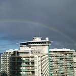 Honolulu空港側の朝一の景色!Rainbow!!