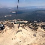 Descent on Gondola (smoke from Sequoia fire)