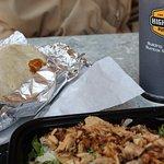 Burrito and burrito bowl.