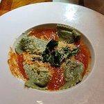 Mushroom & spinach ravioli