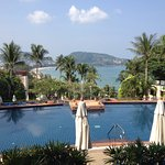 Overlooking Patong Beach and the First Pool from the Reception Area upon our arrival. Wow!!