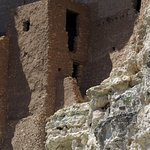 Close-up (zoomed) view of a part of Montezuma Castle.