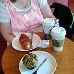 not so sure about the green tea and red bean muffin