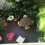 The lovely garden terrace
