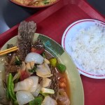 Seafood Laksa and Sweet n Sour fish w rice