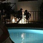 Nice ambiance around the pool