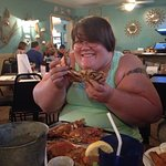 waitress helped my daughter learn how to eat crab , which was prepared beautifully !