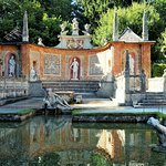Fürstentisch der Wasserspiele in Hellbrunn