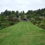 This is the start of the formal gardens showing the red borders.