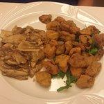 funghi porcini fritti e trifolati, 2 gusti differenti buonissimi