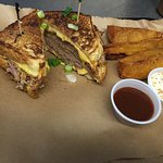 Brisket Grilled Cheese Sandwich!