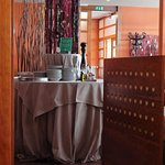 Kobarid, Topli val, decoration inside, near the breakfast hall