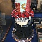 Beautiful cake on display in the Garrison Bar.