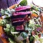 "Ahi Tuna salad: ""best salad I ever had"" Complete with citrus vinegarette."