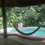 Superbe piscine particulière au milieu de la jungle