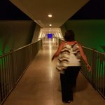The walk ways leading back to your rooms