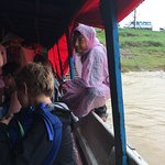 arrival at Siem Reap in the rain