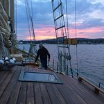 Sunset aboard the Schooner Koukla