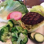 Paleo Burger with lettuce bun