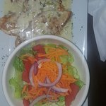 CHICKEN VERDEO with mixed salad.