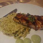 grilled salmon and orzo