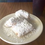 Warm beignets and iced coffee.  Perfect combo.