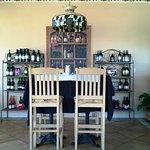 Wine tasting in the bar