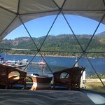 View from the bed in the geodesic domes