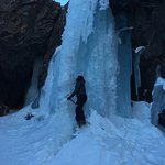 high atlas mountains waterfall (winter time ice climbing)