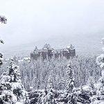 Surprise Corner - View of Banff Springs Hotel