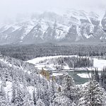 View of the Bow Valley from the lookout at Surprise Corner - Banff Alberta