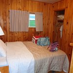The second bedroom -- luv the pine throughout!