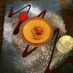 The lemon tart with clotted cream.