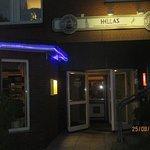 """Restaurant """"Hellas"""" amn einem sommerlichen Abend."""